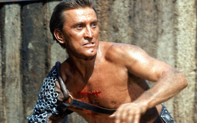 Kirk Douglas as Spartacus in Stanley Kubrick's film of the same name. (Screen capture)