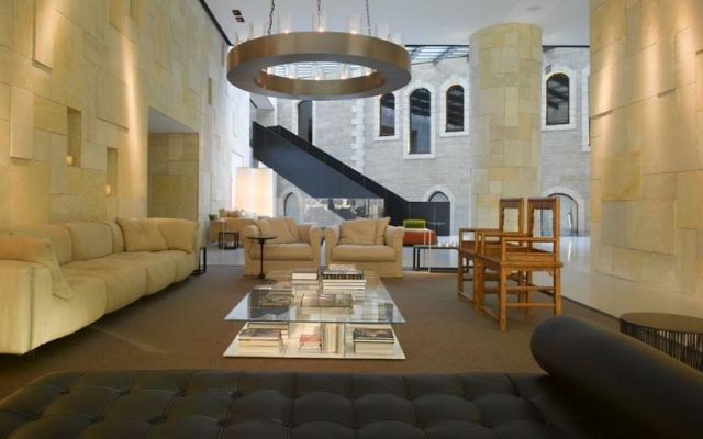 The lobby of the Mamilla Hotel. (Courtesy)