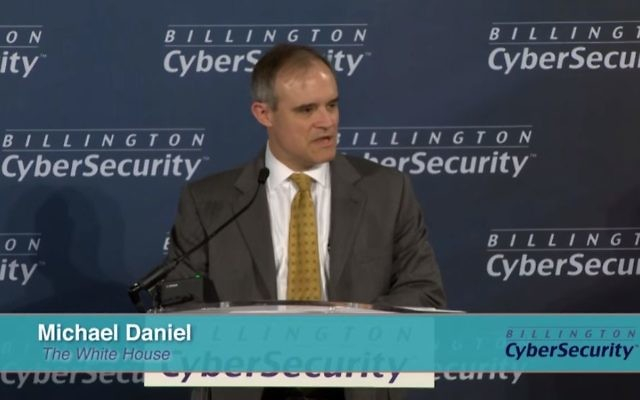 Screen capture from video of Michael Daniel, cybersecurity coordinator for US president Barack Obama, September 2016. (Tom Billington)