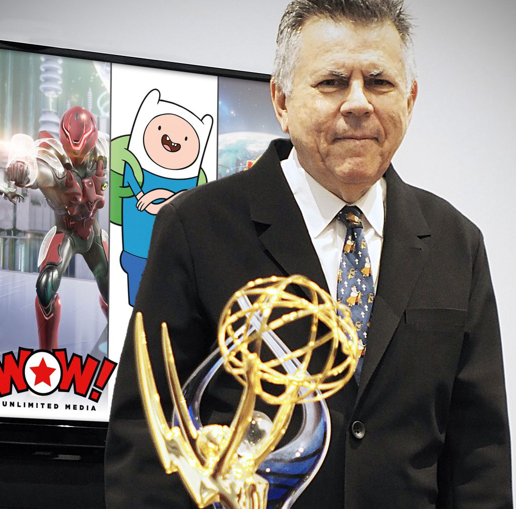 Michael Hirsh with his Emmy Award. (Courtesy)