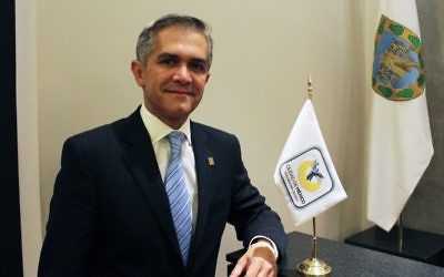 Miguel Ángel Mancera Espinosa, mayor of Mexico City at Antiguo Palacio del Ayuntamiento (Old City Hall) in Mexico City in 2014. (CC BY-SA ProtoplasmaKid, Wikimedia commons)