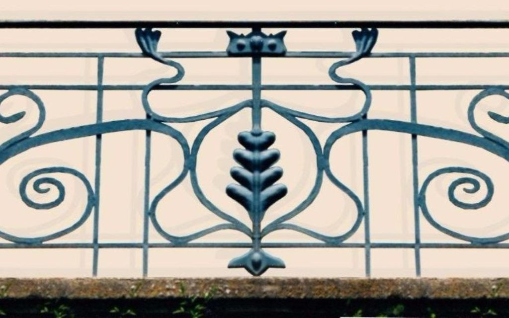 Modern design identity: Balcony railing of an Arab house, built in the 1920s. 19 Hildesheimer Street, German Colony. (Courtesy)
