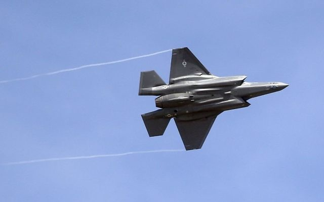 An F-35 jet arrives at its new operational base at Hill Air Force Base, in northern Utah, September 2, 2015. (AP/Rick Bowmer, File)