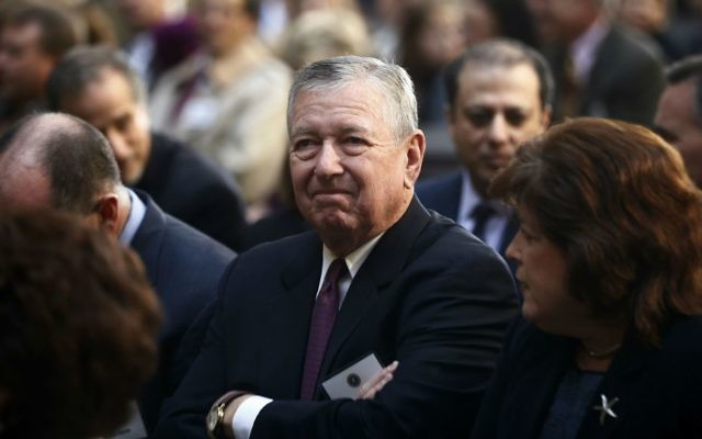In this Oct. 28, 2013 file photo, former US attorney general John Ashcroft attends the installation ceremony of James Comey as FBI director, in Washington. (AP Photo/Charles Dharapak, File)