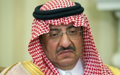 In this Wednesday, May 13, 2015 file photo, then-Saudi Arabian Crown Prince Mohammed bin Nayef pauses while speaking during a meeting with US President Barack Obama in the Oval Office of the White House, in Washington. (AP Photo/Jacquelyn Martin, File)