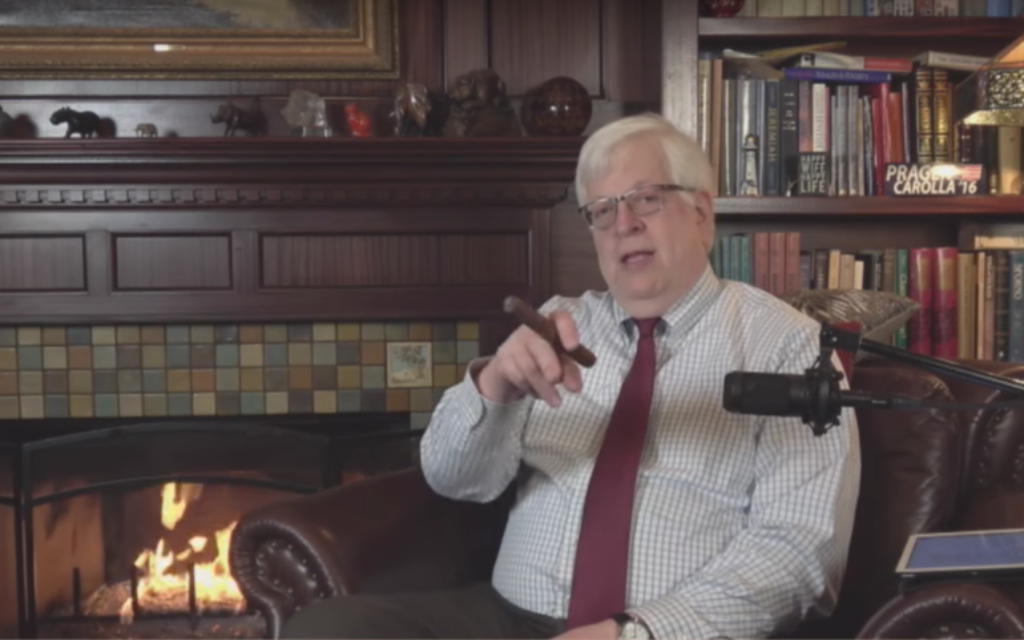 An April 2017 'Fireside Chat' with PragerU's Dennis Prager (YouTube screenshot)
