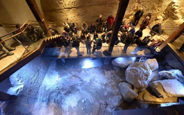 The Spring Citadel was excavated in the City of David National Park by dozens of researchers led by Professor Ronny Reich of the University of Haifa and Eli Shukrun of the Israel Antiquities Authority and dated to 3,800 years ago. (City of David)