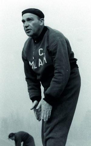 Bela Guttman in his Milan uniform. (Courtesy)