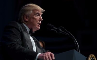 US President Donald Trump speaks during the Ford's Theatre Annual Gala in Washington, June 4, 2017. (AP Photo/Carolyn Kaster)