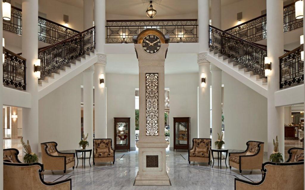 Entrance of the Waldorf Astoria. (Courtesy)