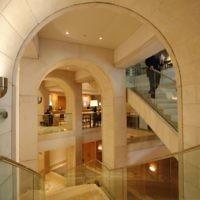 Interior lobby of the David Citadel Hotel. (Flash90/Nati Shoham)