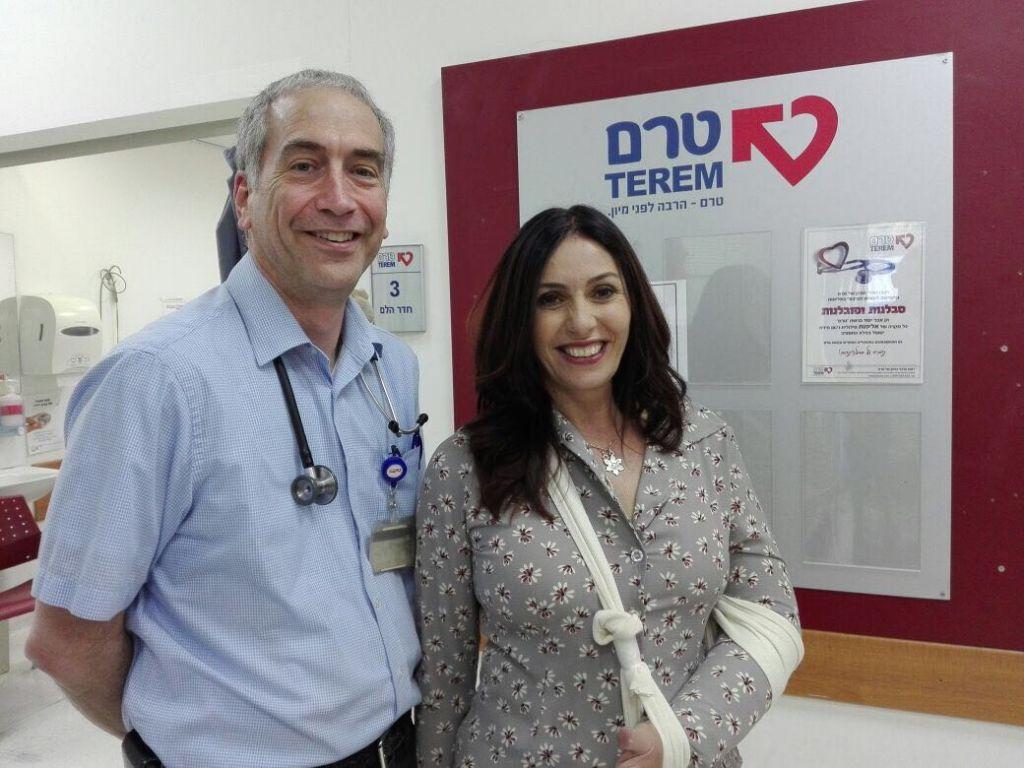 Culture Minister Miri Regev at the Terem Medical Center in Jerusalem. (Terem)