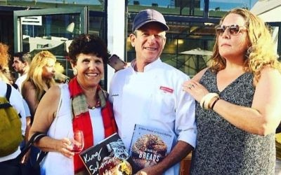 Joan Nathan (left), Uri Scheft and Adeena Sussman at the book launch for Nathan's latest cookbook (Courtesy Adeena Sussman)
