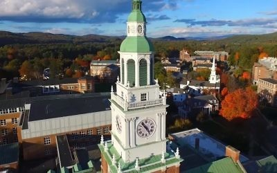 A view of the Dartmouth campus (YouTube screenshot)