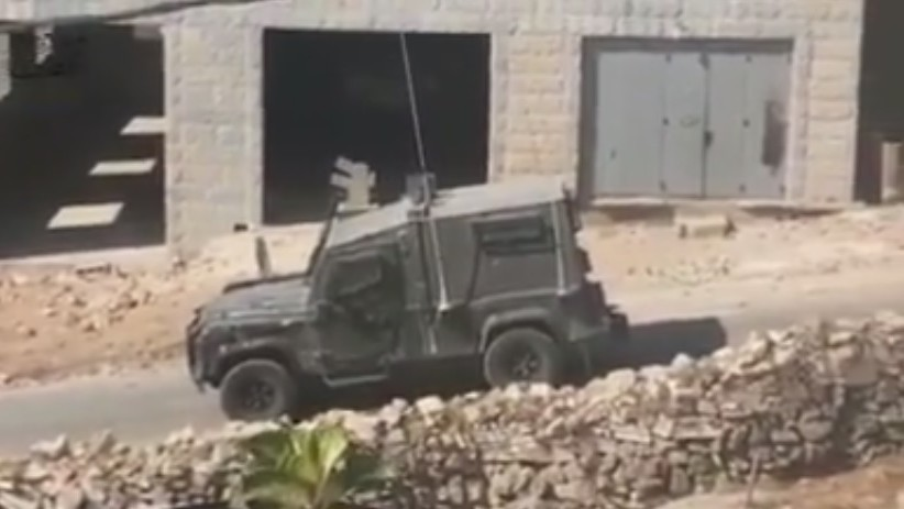 Israeli forces enter the West Bank village of Deir Abu-Mashal, near Ramallah, following a terror attack in Jerusalem's Old City in which a Border Police officer was killed, June 17, 2017 (YouTube screenshot)