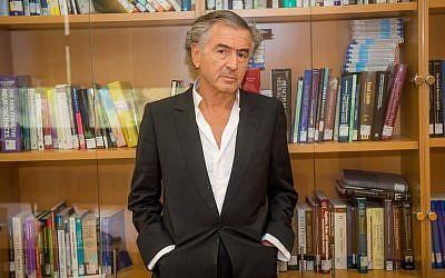 Bernard-Henri Levy in Tel Aviv. (Chen Damari)