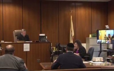 Six Lakewood residents accused of benefits fraud appear in Ocean County Superior Court via video conference, June 28, 2017. (Screen capture: Asbury Park Press video)