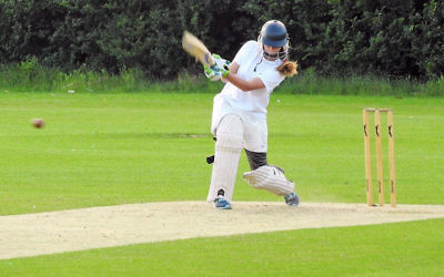 Cricket player Noami Eytan in action (courtesy)