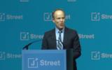 Dan Kohl addressing the annual J Street Gala Dinner, February 7, 2017. (Screen capture: YouTube)