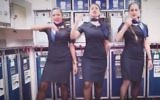 El Al flight attendants perform a music video tribute to Britney Spears in an ad published on June 20, 2017. (Screen capture/Facebook)