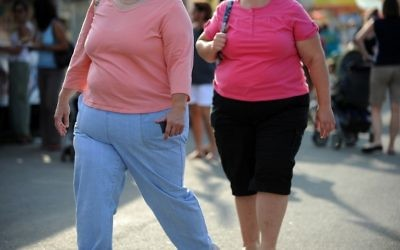 This file photo taken on August 19, 2009, shows two women walking at the 61st Montgomery County Agricultural Fair Gaithersburg, Maryland. (AFP PHOTO / Tim SLOAN)