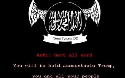 A screenshot of the message posted on John Kasich's website after a pro-Islamic State hack, June 25, 2017. (Screenshot via UPI)