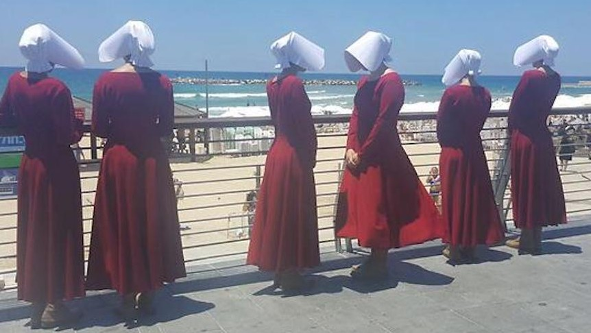The Handmaids Tale Invades Streets Of Tel Aviv The Times Of Israel
