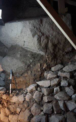 Recently uncovered remains of a massive stone tower built to guard Gihon Spring – a vital water supply just downhill from the ancient city of Jerusalem (Weizmann Institute)
