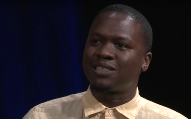 Juan M Thompson on a panel for BRIC TV in Brooklyn, Jun. 24, 2015 (You Tube/BRIC TV via JTA)