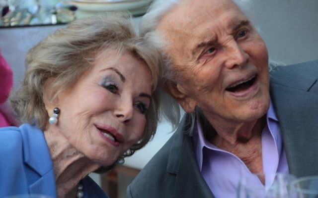 Kirk and Anne Douglas at their 60th wedding anniversary in 2014. (Christopher Briscoe)
