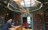 Staff preparing the Ets Haim Jewish library in Amsterdam for a tour, May 17, 2017. (Cnaan Liphshiz/JTA)