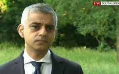 London Mayor Sadiq Khan responds to the London Bridge terror attack, June 4, 2017. (Screen capture: YouTube)