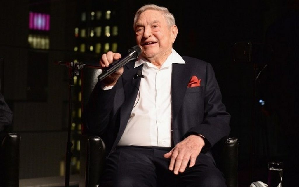 George Soros speaks onstage at Lincoln Center on April 18, 2017, in New York City. (Andrew Toth/Getty Images for Physicians for Human Rights/AFP)