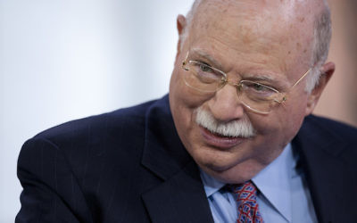 Michael Steinhardt in New York, April 12, 2012. (Scott Eells/Bloomberg/Getty Images/via JTA)