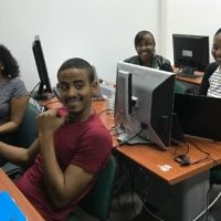 Tech-Career students seek access to Israel's startup scene (Shoshanna Solomon/Times of Israel)