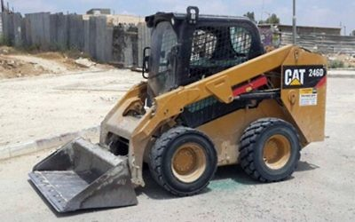 The tractor which crushed a two-year-old girl in the Bedouin village of Tarabin, southern Israel, June 20, 2017. (Police spokesperson's office)