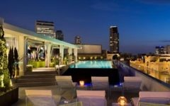 The rooftop pool and cabanas of The Poli House, named to the Hot List 2017 of Conde Nast Traveller (Courtesy The Poli House)