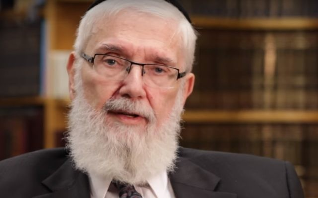 Rabbi Meir Zlotowitz, founder of ArtScroll Publications, who died June 23, 2017. (YouTube screenshot)