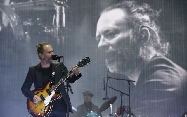 Radiohead frontman Thom Yorke headline the main Stage at the TRNSMT music festival on Glasgow Green, in Glasgow on July 7, 2017. (AFP/Digital/Andy Buchanan)