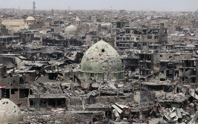 A picture taken on July 9, 2017, shows a general view of the destruction in Mosul's Old City. (AFP PHOTO / AHMAD AL-RUBAYE)