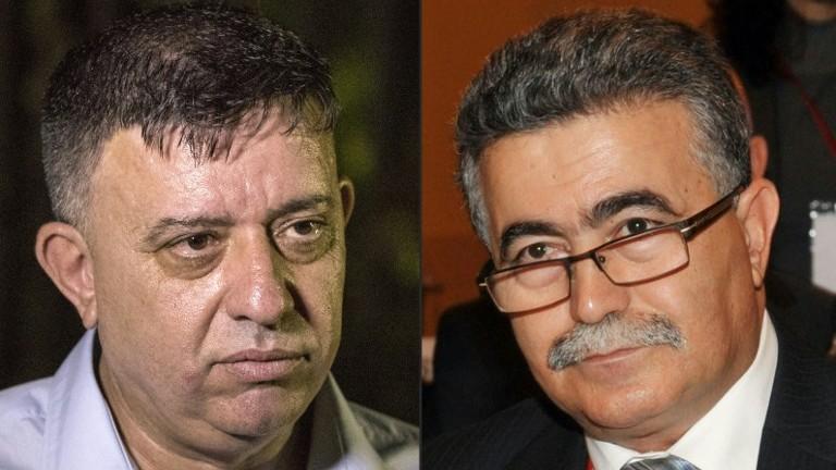Amir Peretz (R) and Avi Gabbay (L). (AFP Photo/Jack Guez and Ozan Kose)