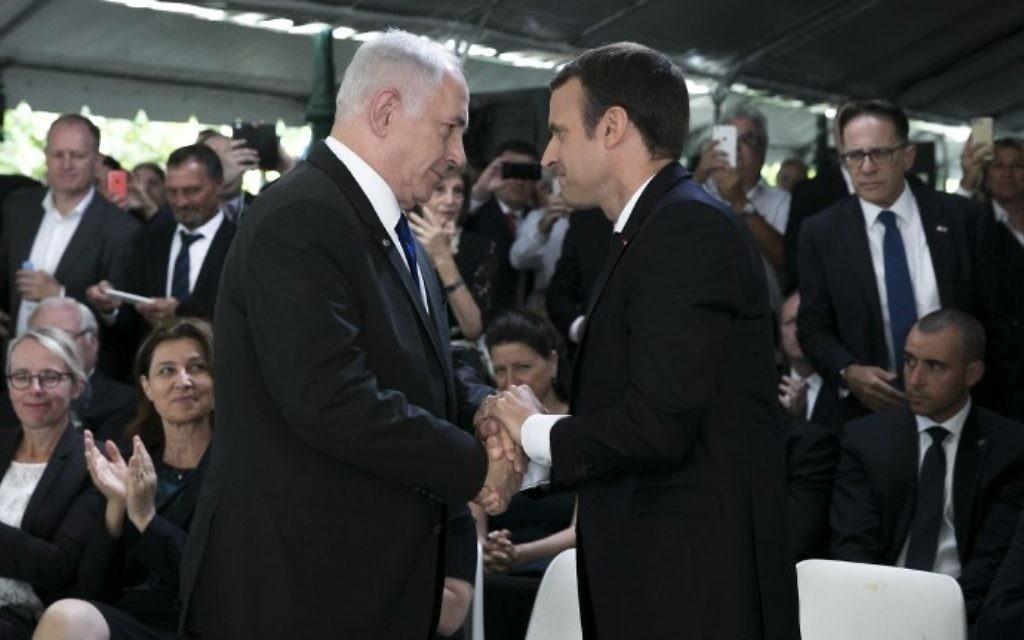Netanyahu speaks with Macron amid wave of anti-Semitism in France