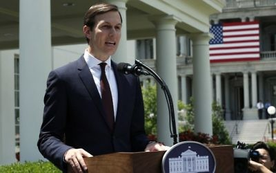Senior Adviser to US President Donald Trump Jared Kushner makes a statement at the White House after hearings in the Senate Intelligence Committee on July 24, 2017. (AFP Photo/Yuri Gripas)