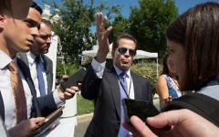 White House Communications Director Anthony Scaramucci speaks with the media outside the White House in Washington, DC on July 25, 2017. (AFP/ TASOS KATOPODIS)