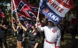 The Ku Klux Klan protests on July 8, 2017 in Charlottesville, Virginia.(Chet Strange/Getty Images/AFP)