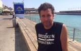Ari Nagel visits the Tel Aviv port, June 27, 2017. (Renee Ghert-Zand/TOI)