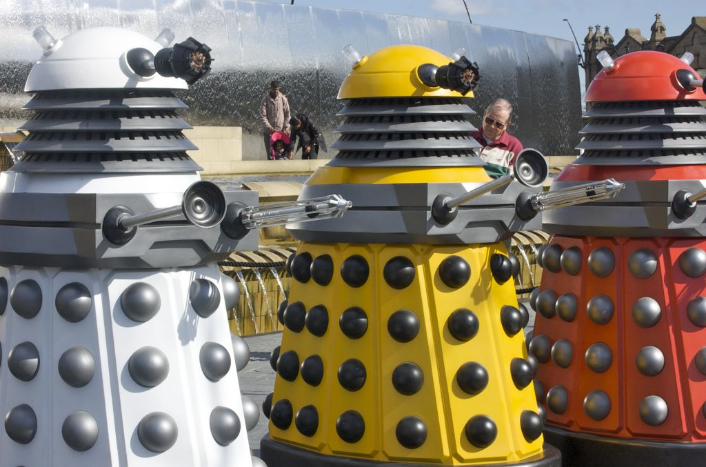 Daleks in various colors, 2010. (CC BY Melinda Seckington, Flickr)