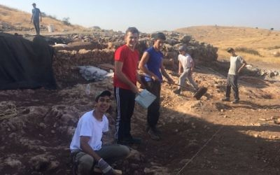 Dozens of students participated in the summer 2017 Rosh Ha'ayin dig. (Daniel Weinberger, IAA)