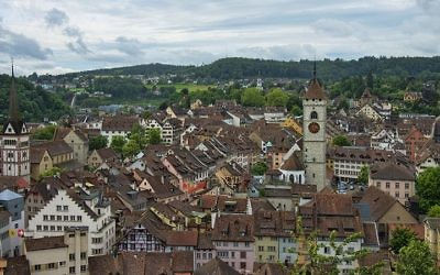 The Swiss town of Schaffhausen. (CC-BY SA chensiyuan/Wikipedia)