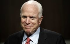 Senator John McCain arrives at Capitol Hill in Washington, July 25, 2017. (AP Photo/Jacquelyn Martin, File)